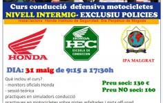 CURSO CONDUCCIÓN MOTOCICLETAS POLICIAL