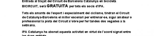 Circuit de Barcelona Catalunya en bicicleta BICIRCUIT