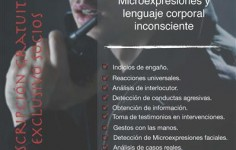 """Masterclass """"Microexpresiones y lenguaje corporal inconsciente"""""""